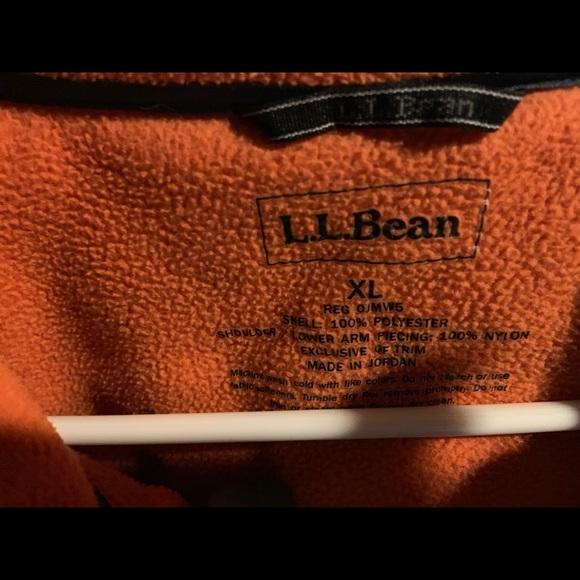 LL Bean Orange Fleece zip up coat